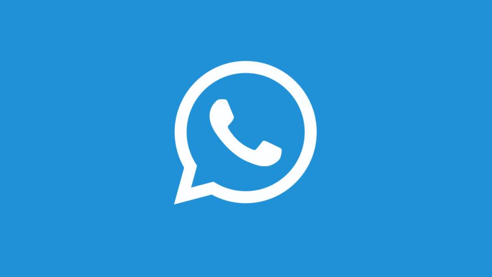 Logo do WhatsApp na cor azul, como prometem alguns golpes online.