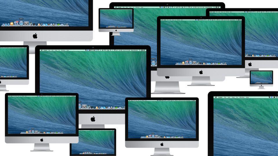 Montagem com 12 iMac.