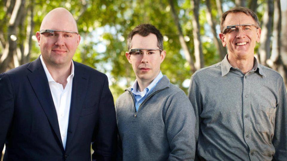 Marc Andreessen e amigos com Google Glass.