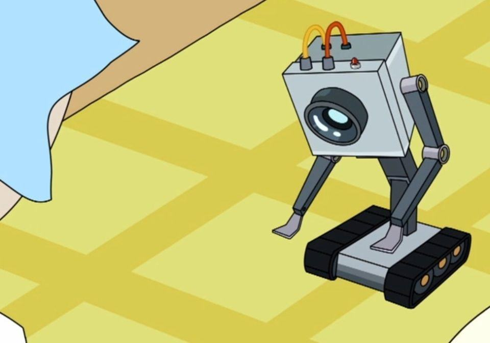 Robô passador de manteiga do desenho Ricky e Morty.