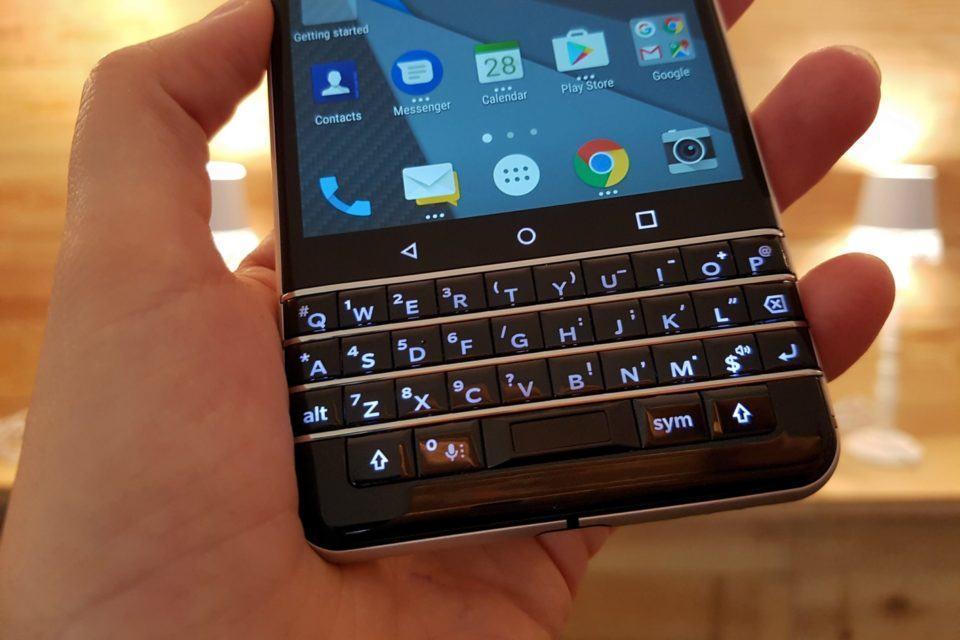 Teclado do BlackBerry KEYOne.