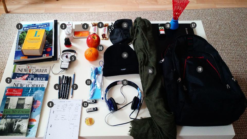 O que tem na sua mochila, Maurício Renner?