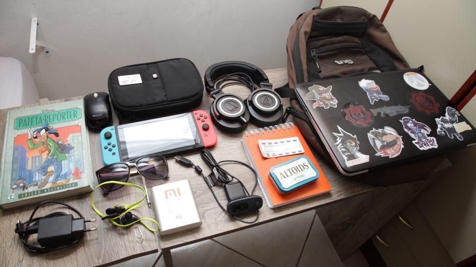 O que tem na sua mochila, Leandro Souza?