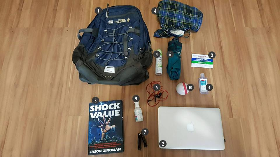 O que tem na sua mochila, Luiz Mazetto?