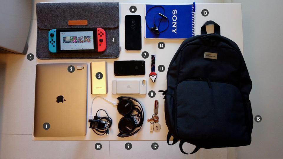 O que tem na sua mochila, José Adorno?
