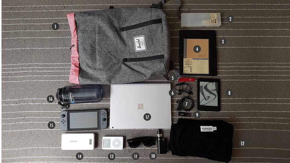 O que tem na mochila do Joel Nascimento Jr.