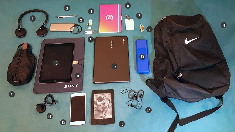 O que tem na sua mochila, Lucas Agrela?