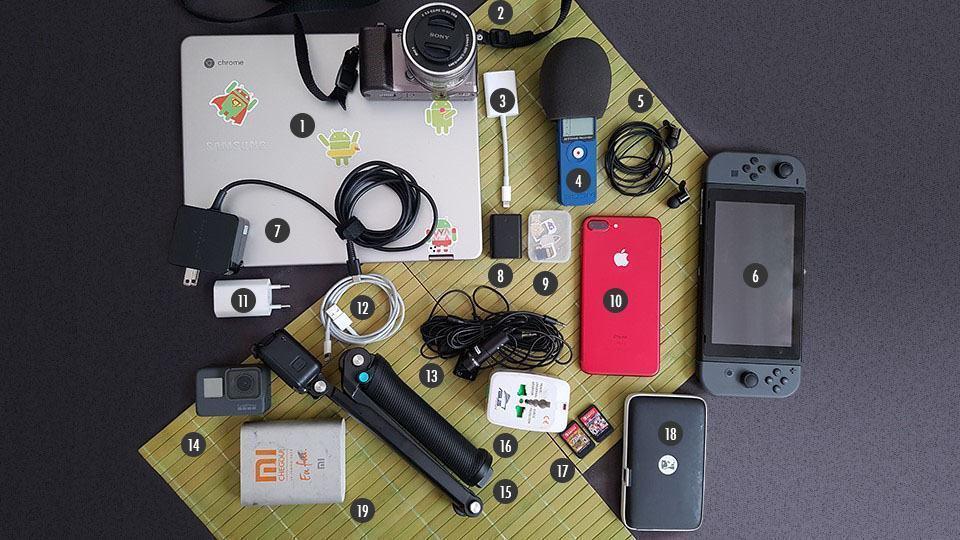 O que tem na mochila do André Fogaça.