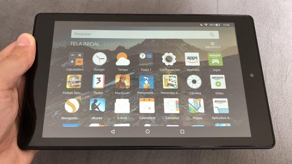 Uma olhada rápida no Kindle Fire HD8 — e como é usá-lo no Brasil