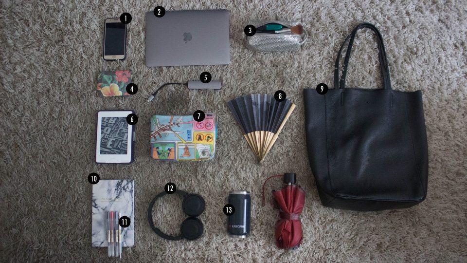 O que tem na sua mochila, Luiza Terpins?