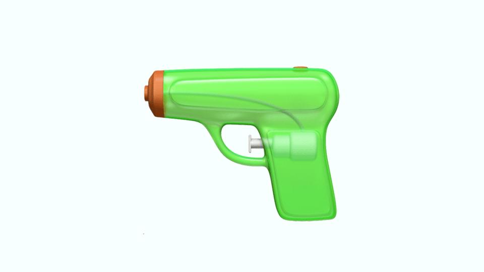 Design da pistola d'água da Apple.