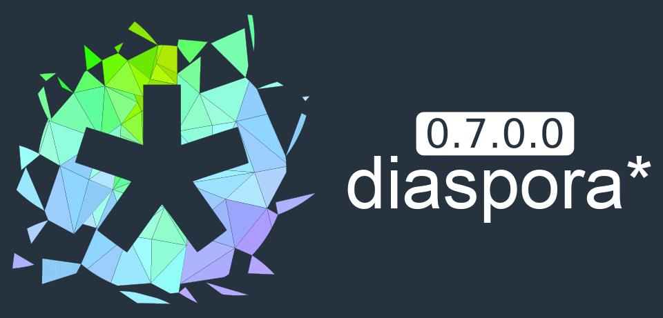 Imagem de divulgação da versão 0.7 da Diaspora.