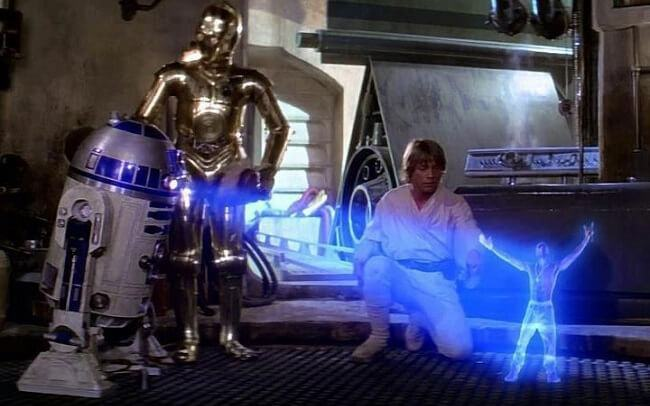 Montagem de Tupac em Star Wars.