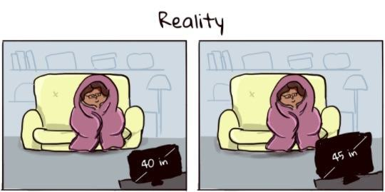 Realidade das TVs novas.