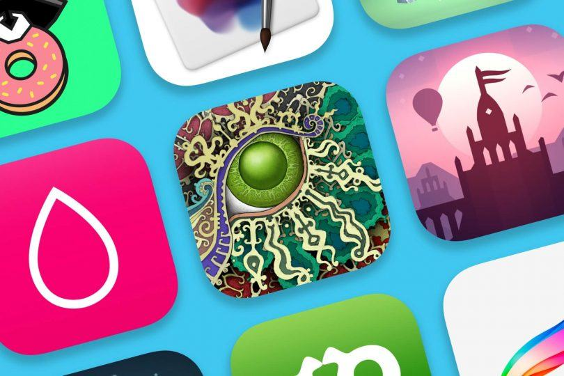 Imagem com os ícones de alguns apps eleitos pela Apple como os melhores de 2018.