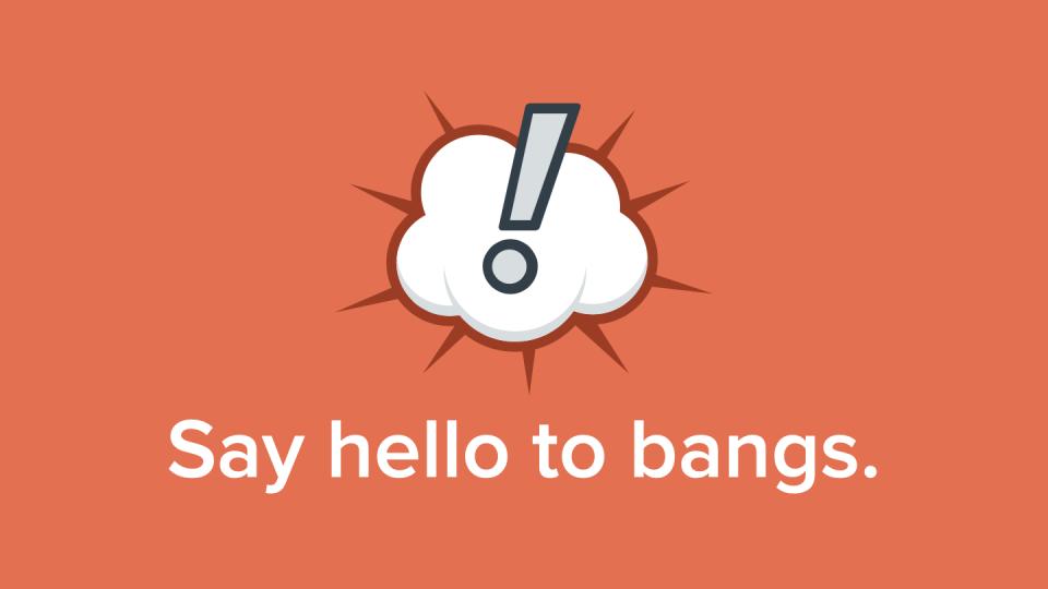 Imagem ilustrativa dos bangs do DuckDuckGo.