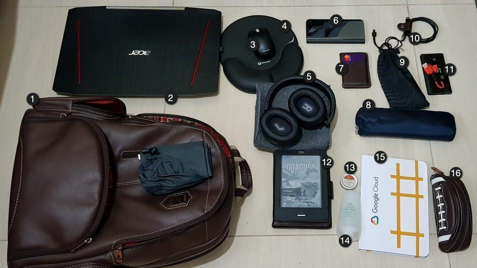 O que tem na mochila de Christian Hartung