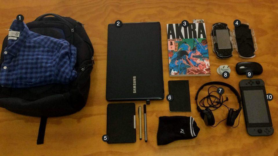 O que tem na sua mochila, Lucas Pereira