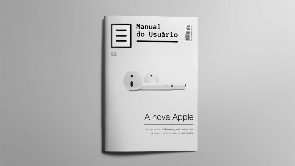 Mockup da revista impressa do Manual do Usuário.