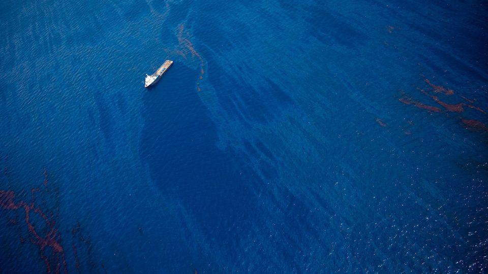 Vazamento de petróleo no Golfo do México em 2010.
