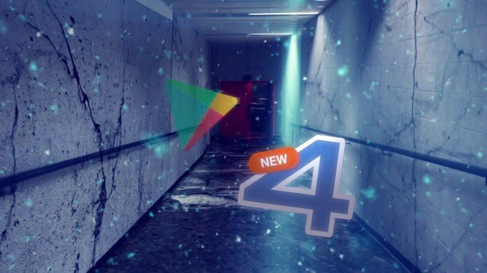 """Ícones do 4Shared e Play Store no mundo invertido da série """"Stranger Things""""."""