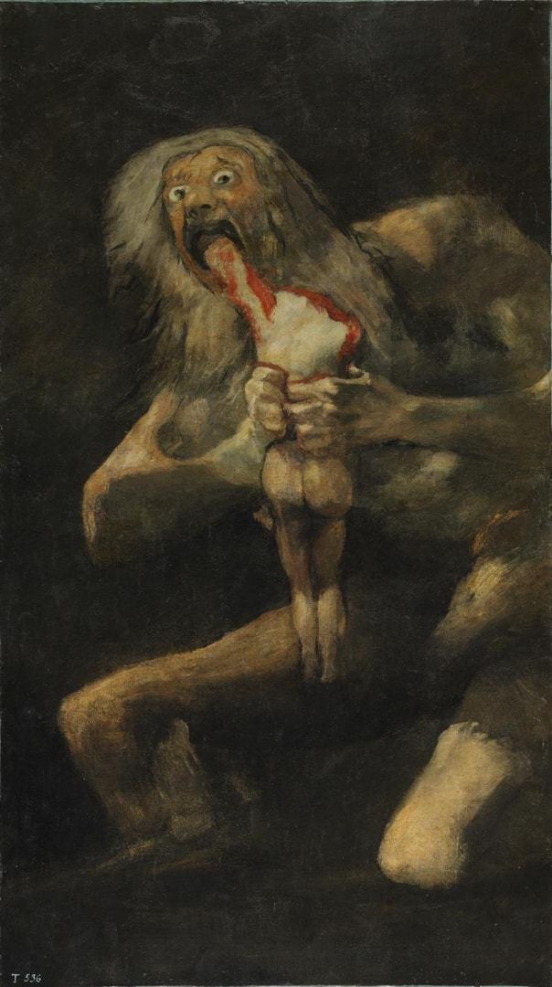 """pintura """"Saturno devorando a su hijo"""" de Francisco de Goya."""