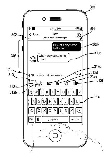 Outra imagem de patente do Facebook.