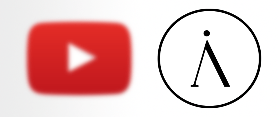 Ícone do YouTube borrado à esquerda; ícone do Invidious destacado à direita.