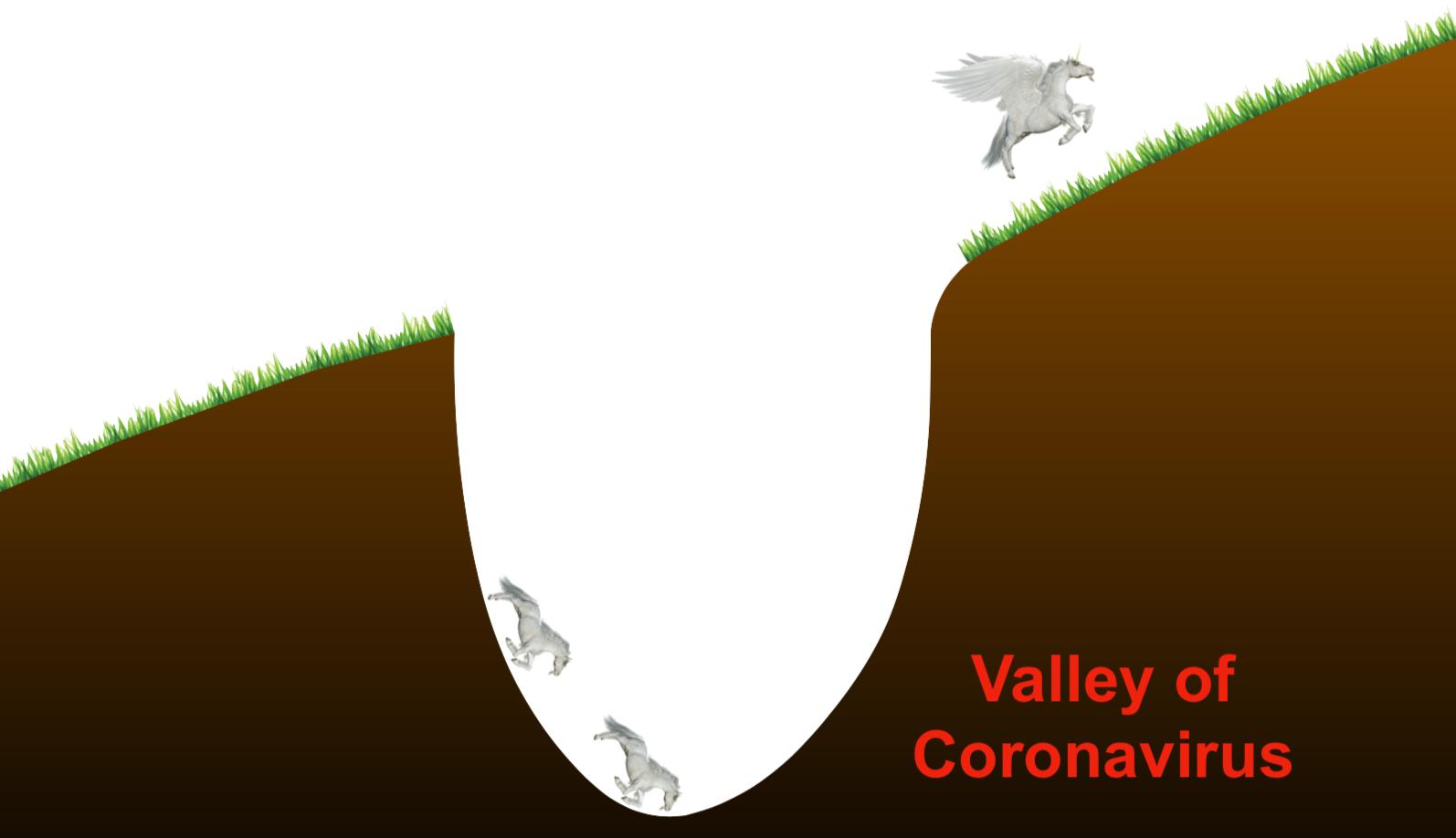 """Slide do """"vale do coronavírus"""" do SoftBank."""