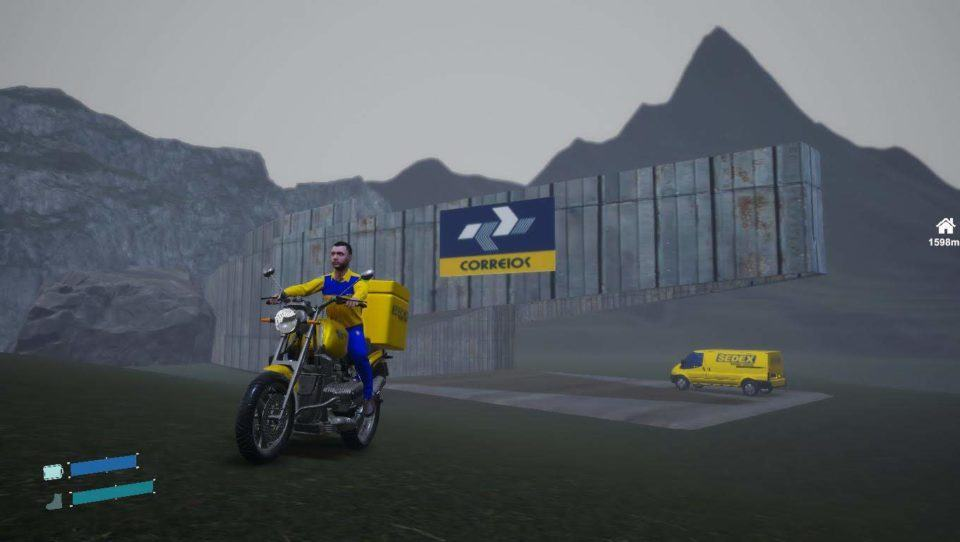 Quadro do jogo brasileiro baseado nos Correios.