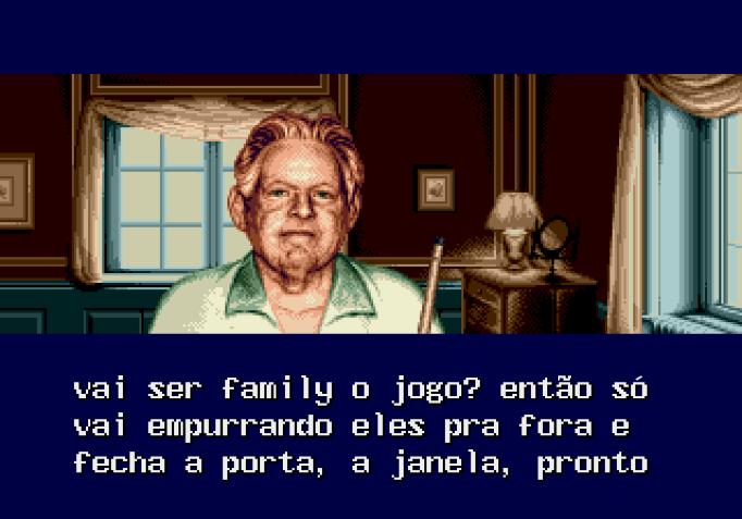 João Paulo: — Vai ser family o jogo? Então só vai empurrando eles pra fora e fecha a porta, a janela, pronto