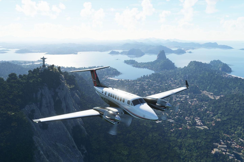 A estranheza da estética algorítmica de Flight Simulator