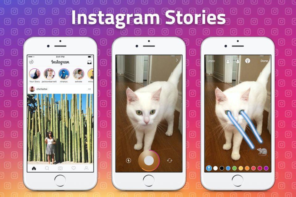 Prints dos Stories do Instagram, da época do lançamento do recurso.